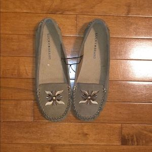 New Lucky Brand Ailee 2 Moccasin Embroidered